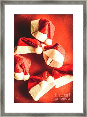 Six Santa Hats In Vintage Tone Framed Print by Jorgo Photography - Wall Art Gallery