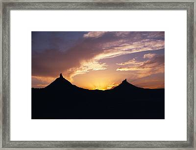 Six Shooter Peaks Framed Print