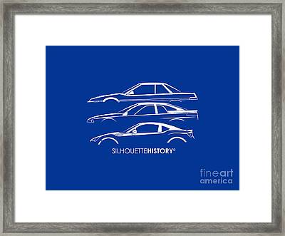 Six Stars Sports Coupe Silhouettehistory Framed Print by Gabor Vida