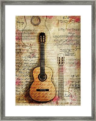 Six String Sages Framed Print
