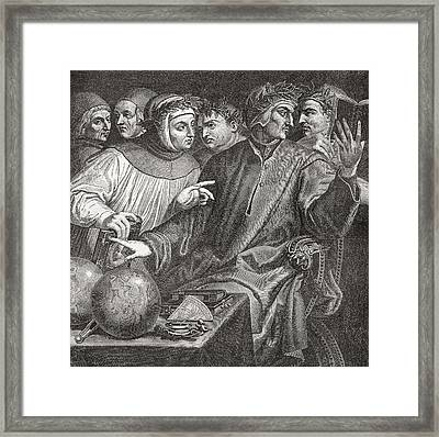Six Tuscan Poets By Giorgio Vasari Framed Print by Vintage Design Pics