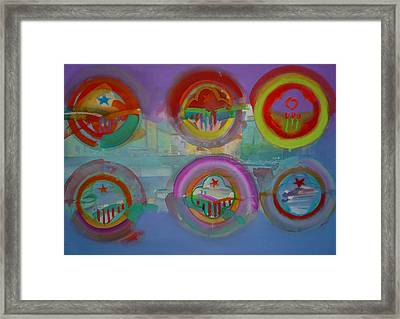 Framed Print featuring the painting Six Visions Of Heaven by Charles Stuart