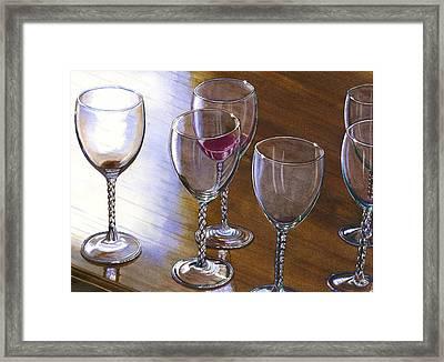 Six Wine Glasses Framed Print