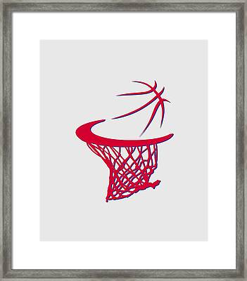 Sixers Basketball Hoop Framed Print