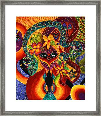 Framed Print featuring the painting Transformation by Marina Petro