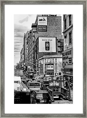 Sixth Avenue Fourteenth Street Sub Station Framed Print