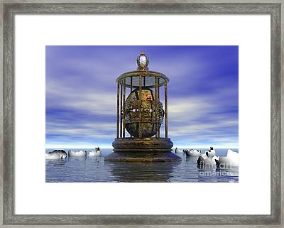 Sixth Sense - Surrealism Framed Print by Sipo Liimatainen