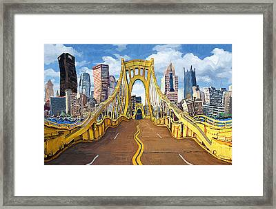 Sixth Street Bridge, Pittsburgh Framed Print by Frank Harris