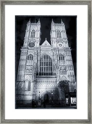 Westminster Abbey Night Framed Print