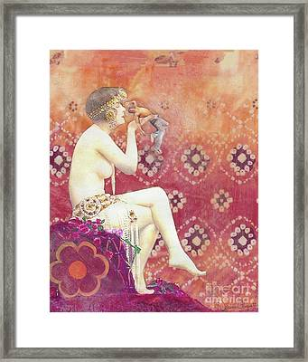 Framed Print featuring the mixed media Size Matters Da by Desiree Paquette