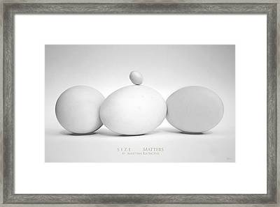 Size Matters Framed Print by Martina  Rathgens