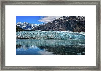 Size Perspective No Margerie Glacier Framed Print