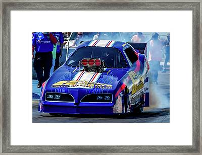 Sizemore Construction Pontiac Funny Car Framed Print by Bill Gallagher