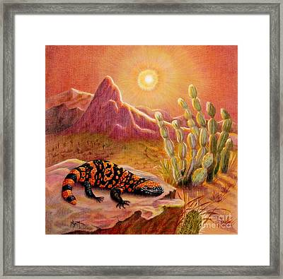 Sizzling Heat Framed Print
