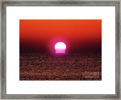 Framed Print featuring the photograph Sizzling Sunrise by D Hackett