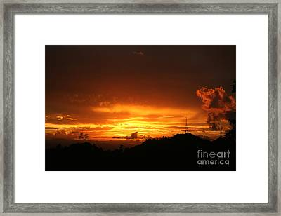 Framed Print featuring the photograph Sizzling Sunset by The Art of Alice Terrill