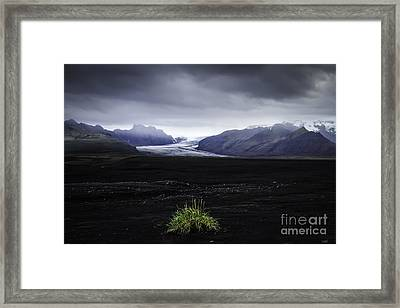 Framed Print featuring the photograph Skaftafellsjokull Glacier by Nancy Dempsey