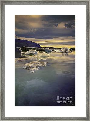 Framed Print featuring the photograph Skaftafellsjokull Lagoon by Nancy Dempsey