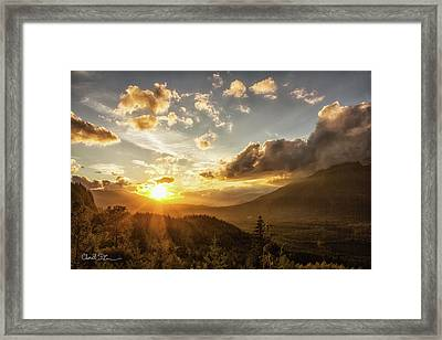 Skagit Valley Sunset Framed Print by Charlie Duncan