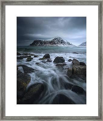Skagsanden Beach Framed Print by Tor-Ivar Naess