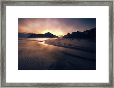Skagsanden Sunrise Framed Print by Tor-Ivar Naess
