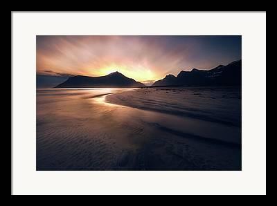 Norway Beach Framed Prints