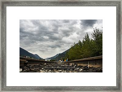 Skagway Tracks Framed Print by Robin Williams