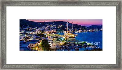 Skala Panorama Framed Print by Inge Johnsson