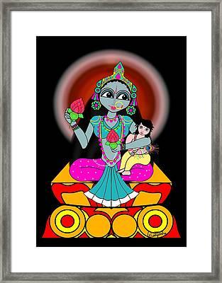 Skandamata Framed Print by Pratyasha Nithin