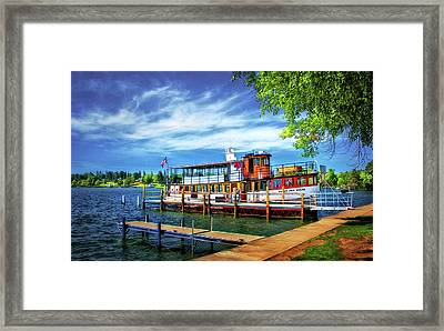 Skaneateles Lake Cruise Boat Framed Print