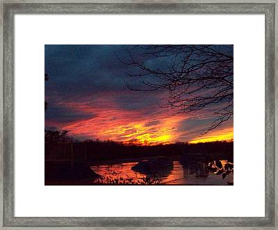 Framed Print featuring the photograph Skate Board Park One by Robin Coaker
