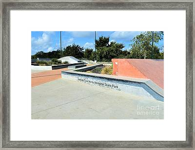 Framed Print featuring the photograph Skate Park by Ray Shrewsberry