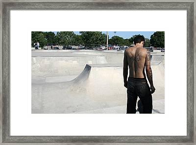 Skate Park Framed Print by Theresa Carter