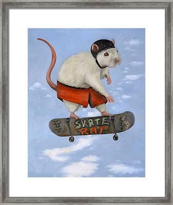 Skate Rat Framed Print