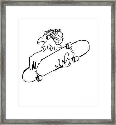 Skateboard Hawk  Framed Print
