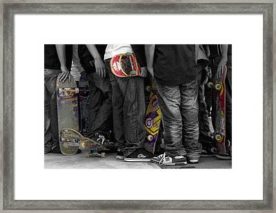 Skateboarders Framed Print by Stelios Kleanthous