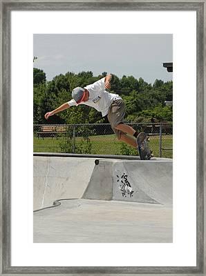 Skateboarding 16 Framed Print by Joyce StJames