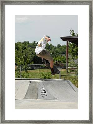 Skateboarding 18 Framed Print by Joyce StJames