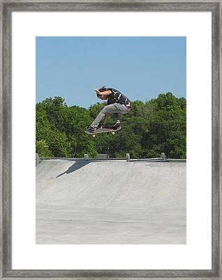 Skateboarding 19 Framed Print by Joyce StJames