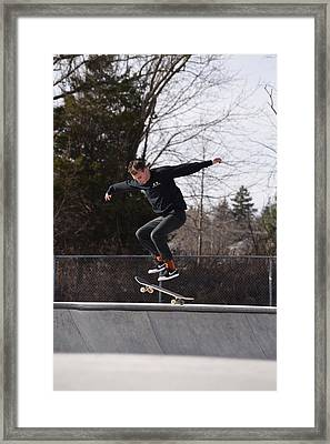 Skateboarding 25 Framed Print by Joyce StJames