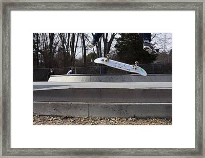 Skateboarding 27 Framed Print by Joyce StJames