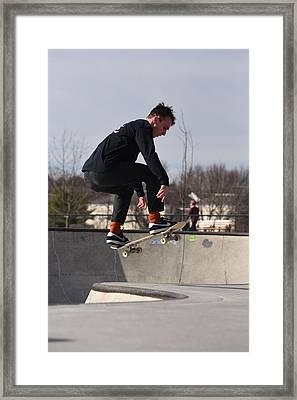 Skateboarding 28 Framed Print by Joyce StJames