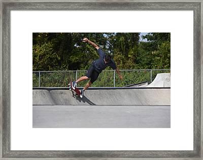 Skateboarding 36 Framed Print by Joyce StJames