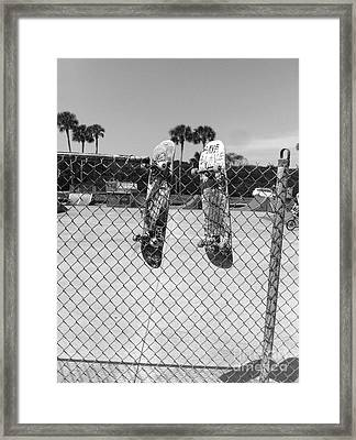 Skateboards Hanging Out Framed Print by WaLdEmAr BoRrErO