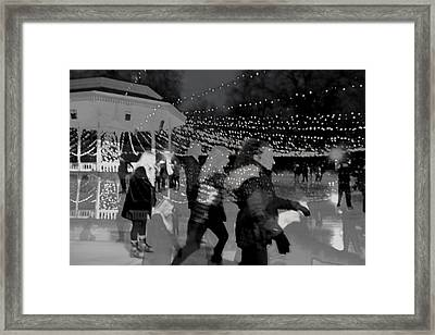 Skaters Framed Print