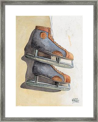 Skates Framed Print by Ken Powers