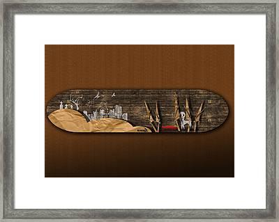 Skatewood Framed Print by Smidis