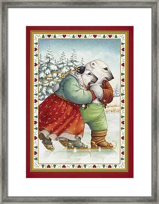 Skating Bears Framed Print