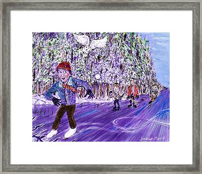 Skating On Thin Ice Framed Print