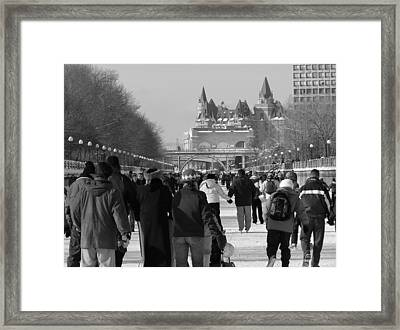 Skating The Ridea Canal Framed Print by Richard Mitchell